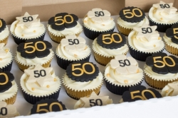 50th Gold & Black