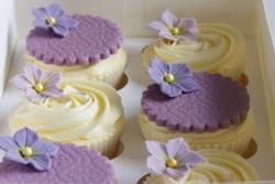 Lilac & Lemon Cupcakes