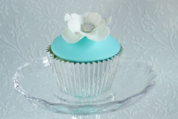 Turquoise & Silver Cupcake