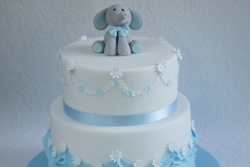 Blue Ruffle Christening