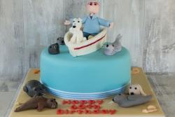 Seal Boat Cake