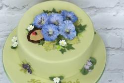 Spring Flower 70th Cake