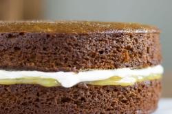 Sticky Ginger Lemon Drizzle Cake