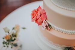Peach Cake Close Up
