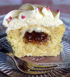 Rhubarb & Custard Cupcake